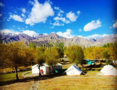 Stok Kangri Peak views from camp in leh