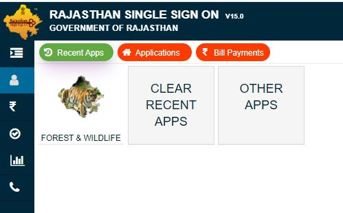 home page of rajasthan forest website